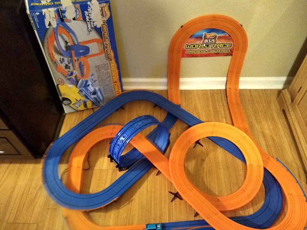 Awesome Electric Racing Track For You Slot Fans Has Been Put Together And Works Great Only One Car Though Click On Picture Complete Details
